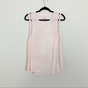 Tops - AEO soft and sexy Pink Sleeveless Top Sz XL